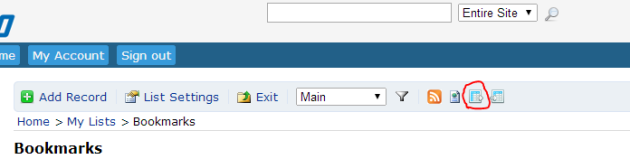 Export Lists Button