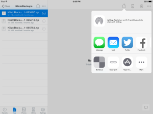 Copy to your iPad using Dropbox and 'Open in...'